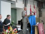 Photo of Gordon Campbell giving his speech